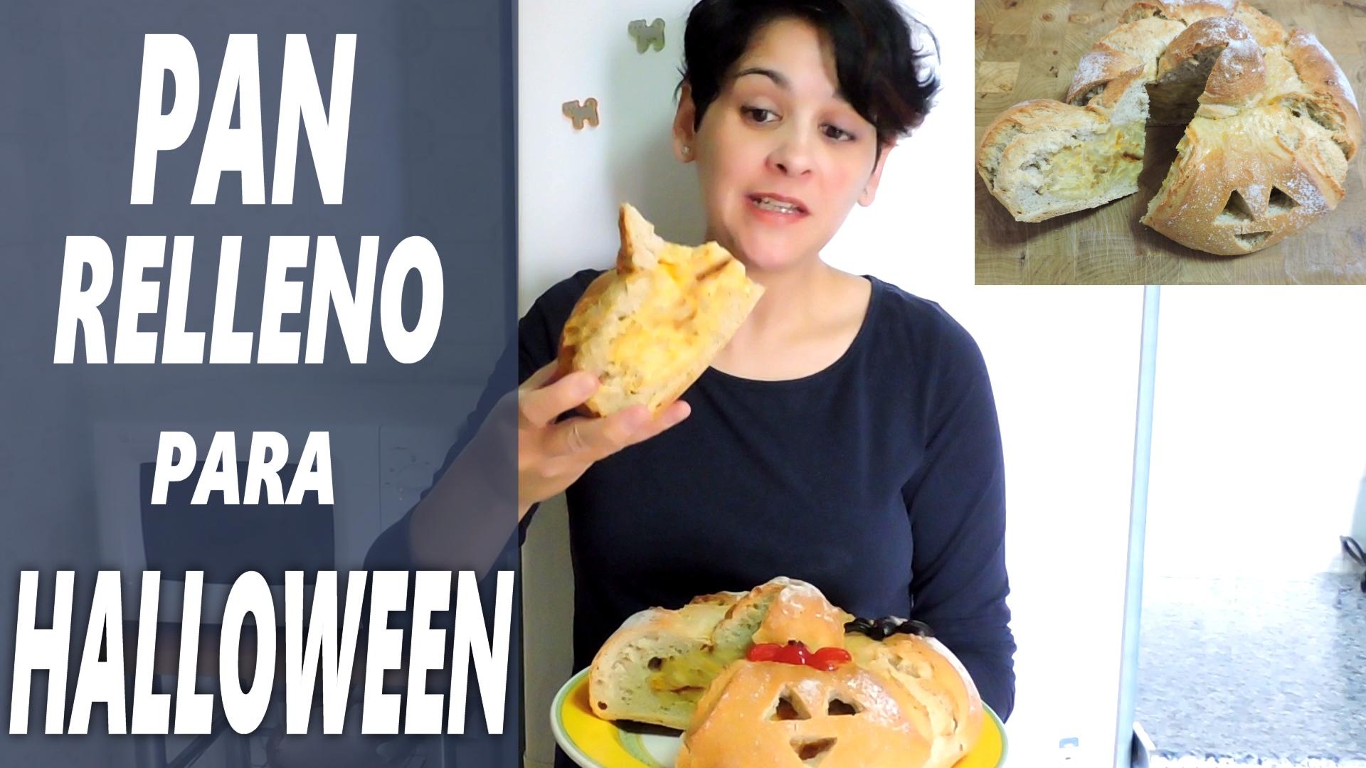 Pan relleno para Halloween