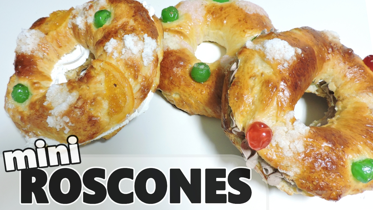 Mini Roscones de Reyes