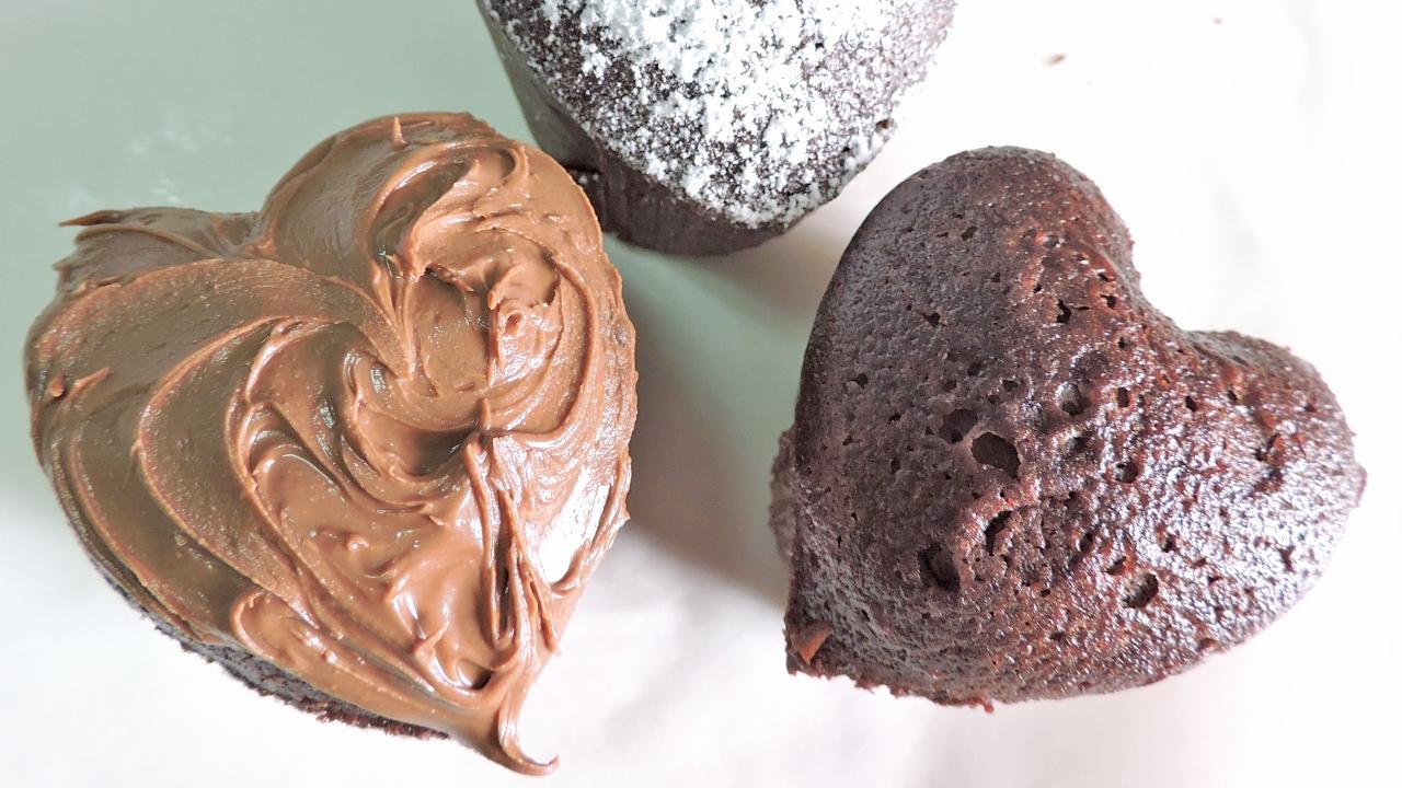 Mini Corazones de Brownie para San Valentín
