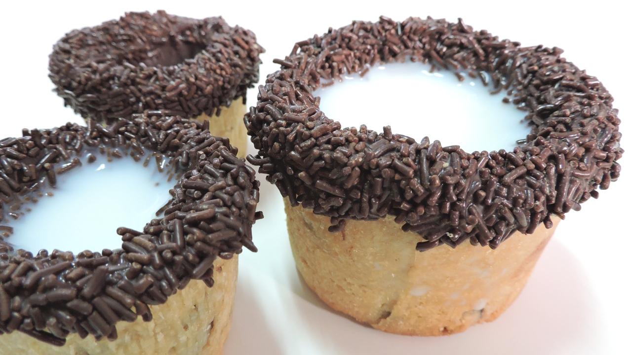 Cookie Tazas (de galleta y chocolate)