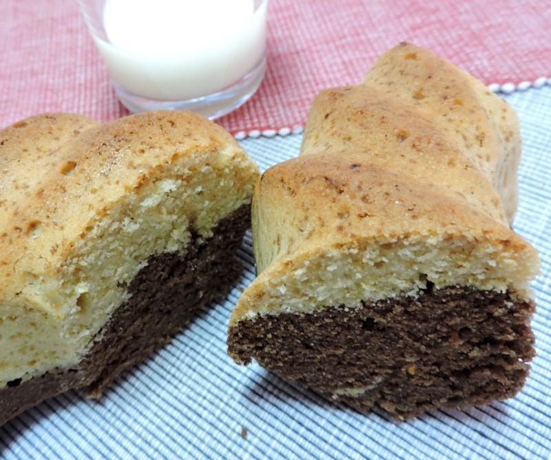 Bizcocho mármol de Maíz y Chocolate (receta sin gluten - apta para celiacos)