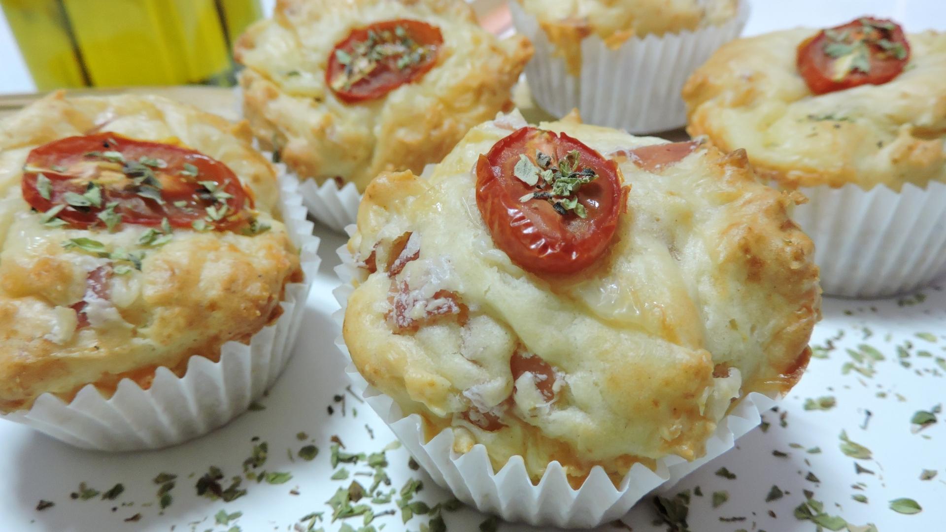 Muffins Salados (de jamón york y queso)