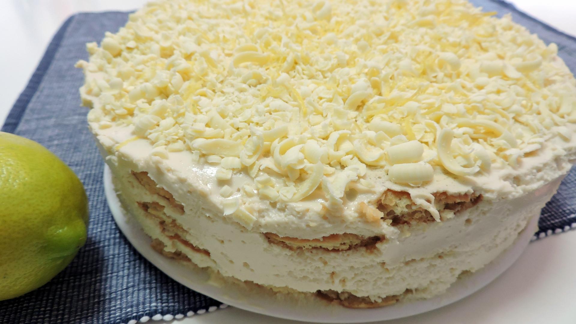 TARTA FÁCIL de LIMÓN y GALLETAS (tarta sin horno)