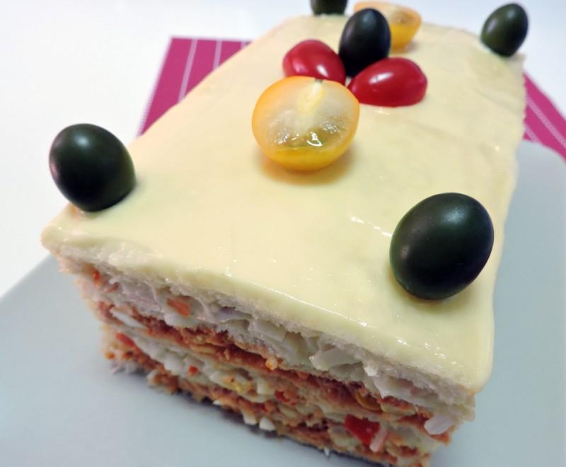 PASTEL DE VERANO (Pastel de sándwich o Sandwichón) - sin horno -