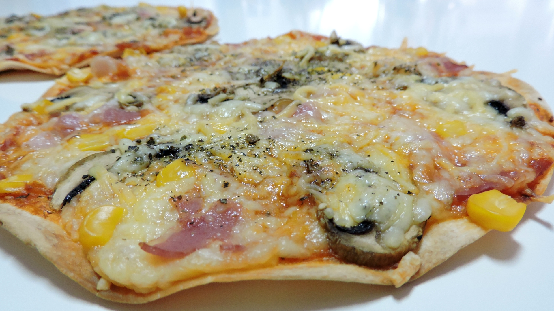 PIZZA (fácil y rápida) con tortillas mexicanas