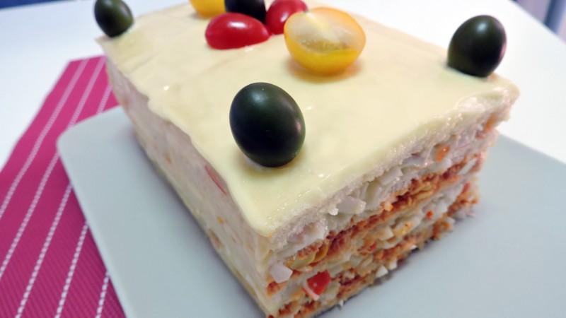 Pastel de sándwich o Sandwichón