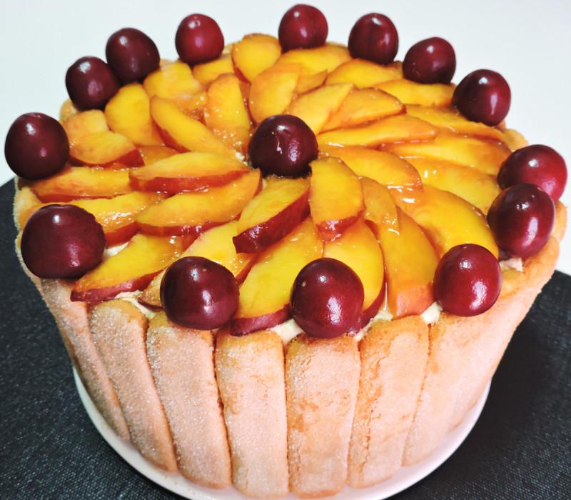CARLOTA de FRUTAS (o Charlota de Frutas) - tarta sin horno