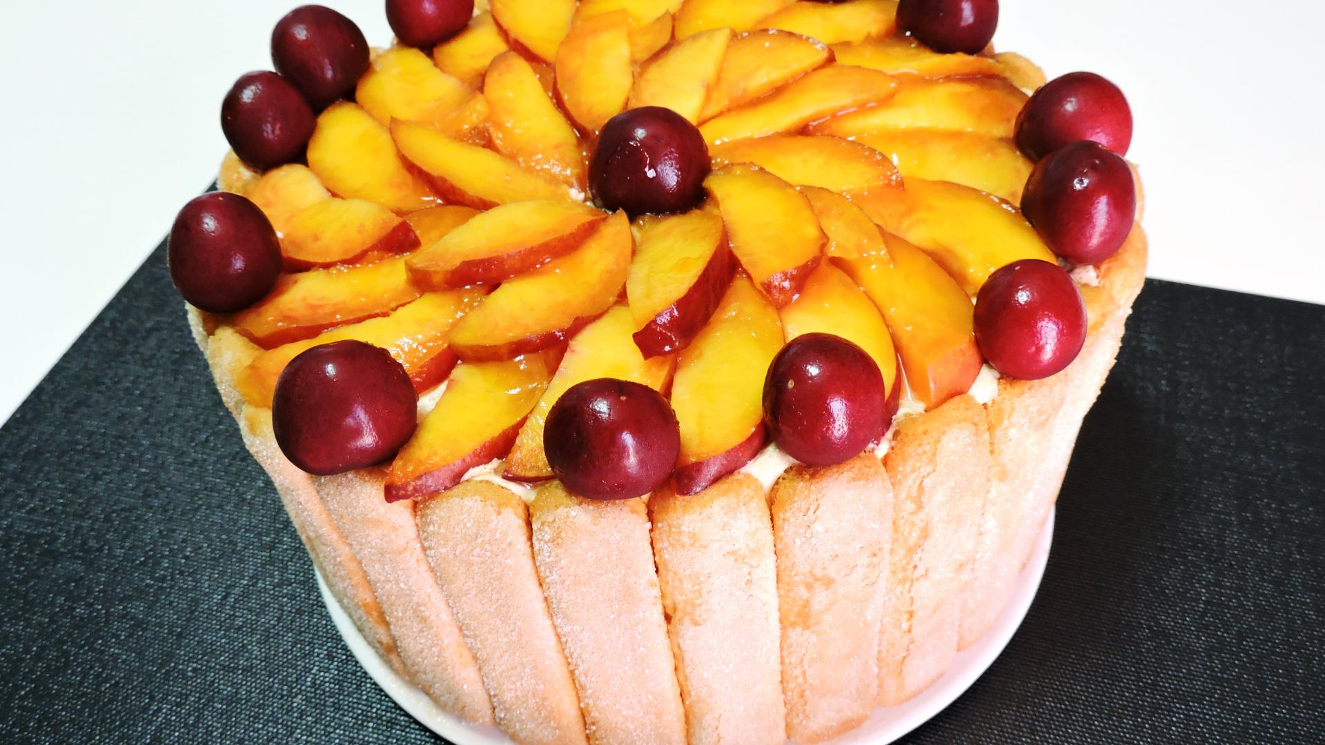 CARLOTA de FRUTAS (o Charlota de Frutas) – tarta sin horno