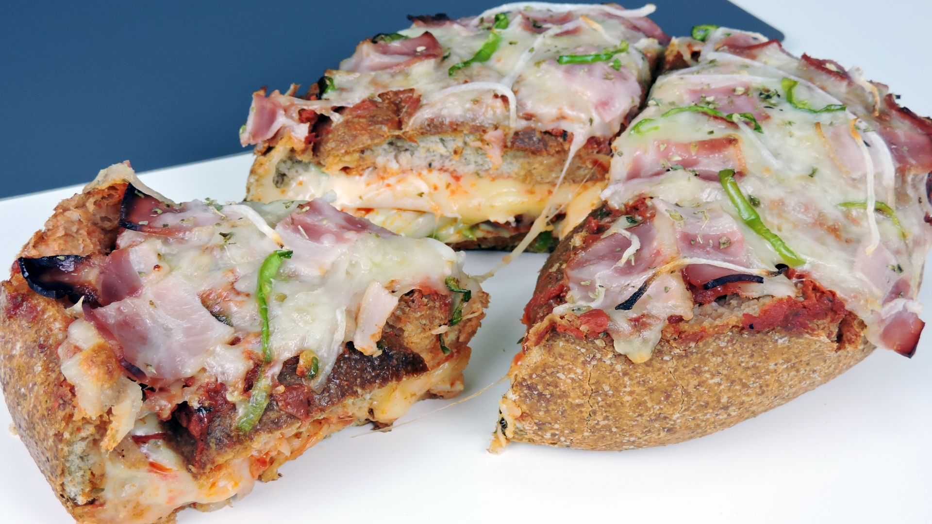 Pan pizza relleno