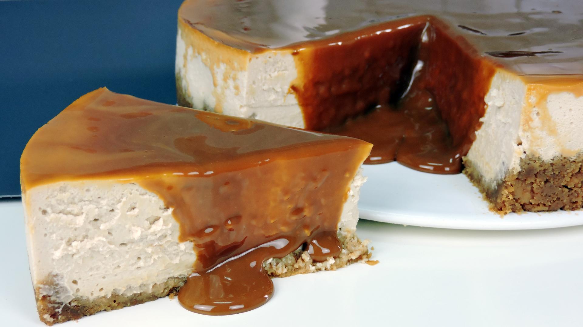 TARTA DE QUESO con DULCE DE LECHE (milk caramel cheesecake)