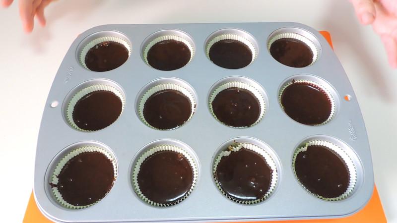 Cupcakes antes de hornear
