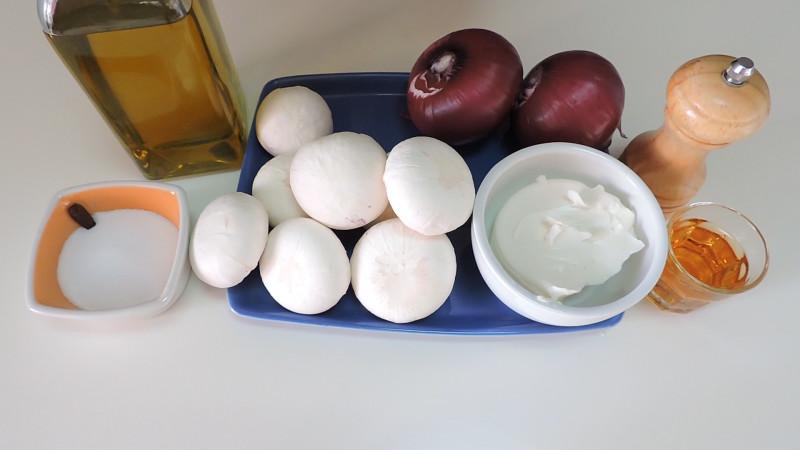 Ingredientes para el paté de champiñones