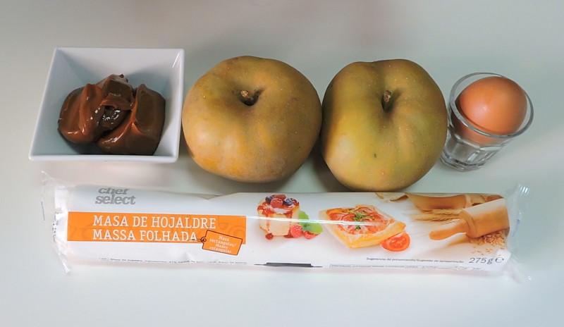 Ingredientes para la tarta de manzana