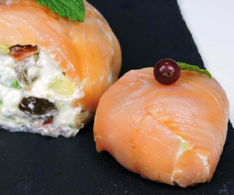 Bolas de salmón (aperitivo navideño)