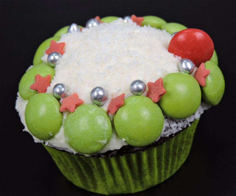 "Cupcake ""corona de Navidad"""