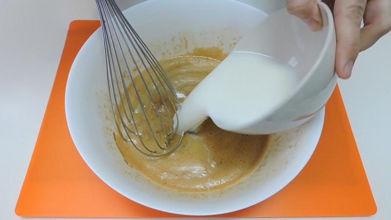 Agregando la leche