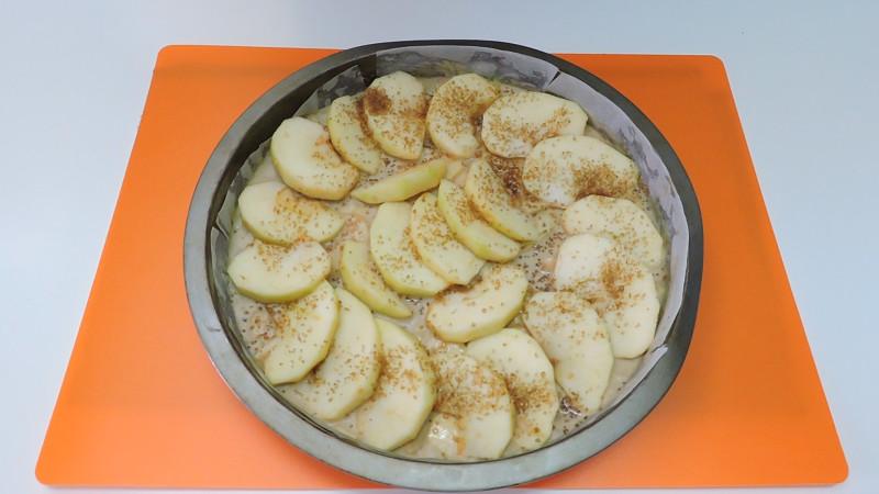 Tarta decorada con manzanaTarta decorada con manzana