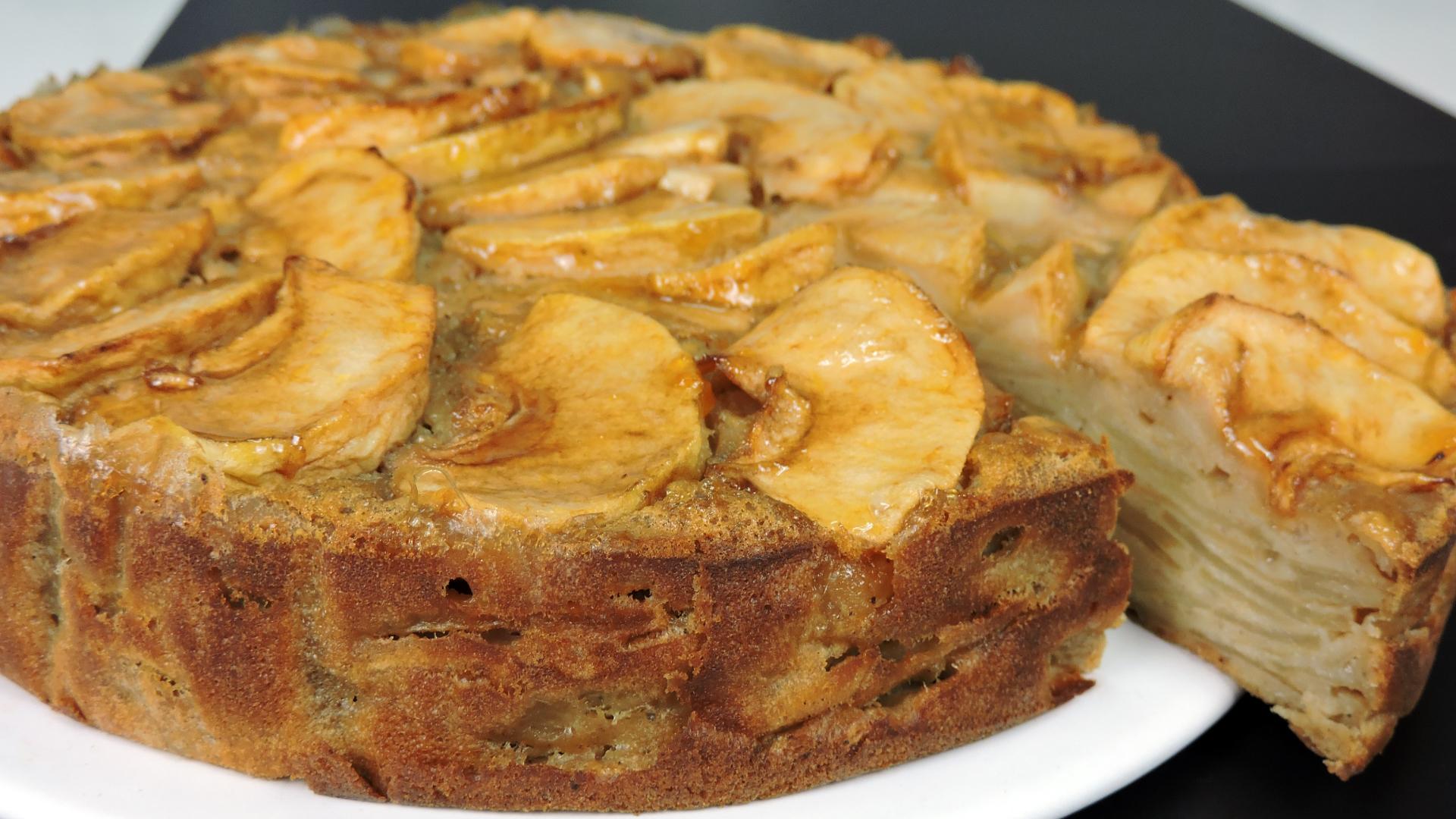 Tarta Invisible de Manzana (pastel de manzana)