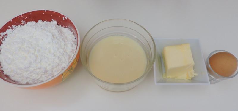 Ingredientes para las galletas de leche condensada y Maizena