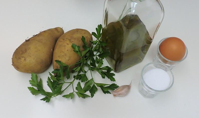 Ingredientes para las patatas alioli