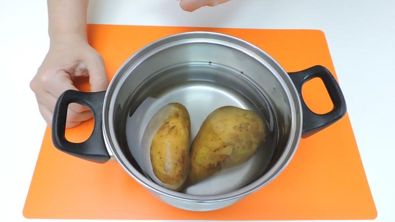 Patatas preparadas para cocer