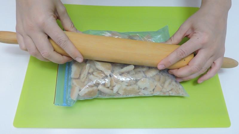Machacando las galletas