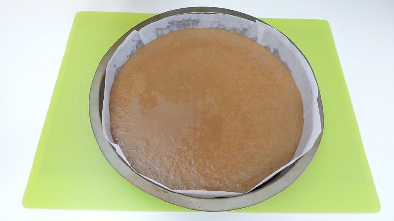 Bizcocho de Nutella antes de hornear