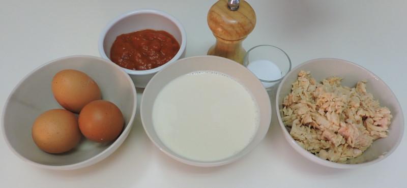 Ingredientes para el pastel de atún