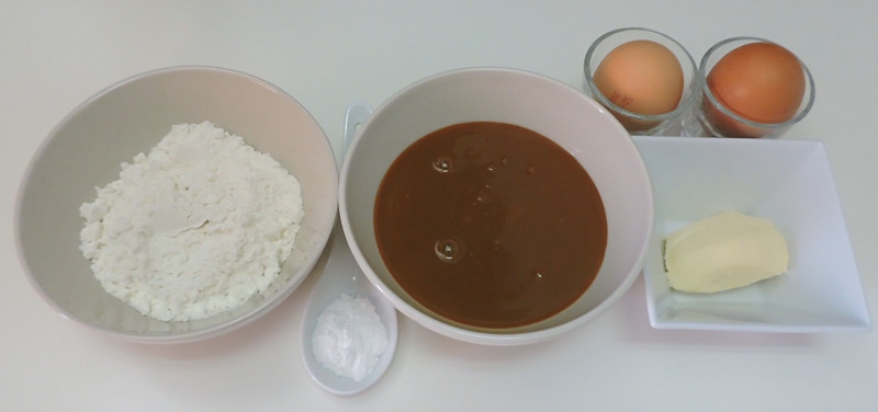 Ingredientes para las magdalenas de dulce de leche