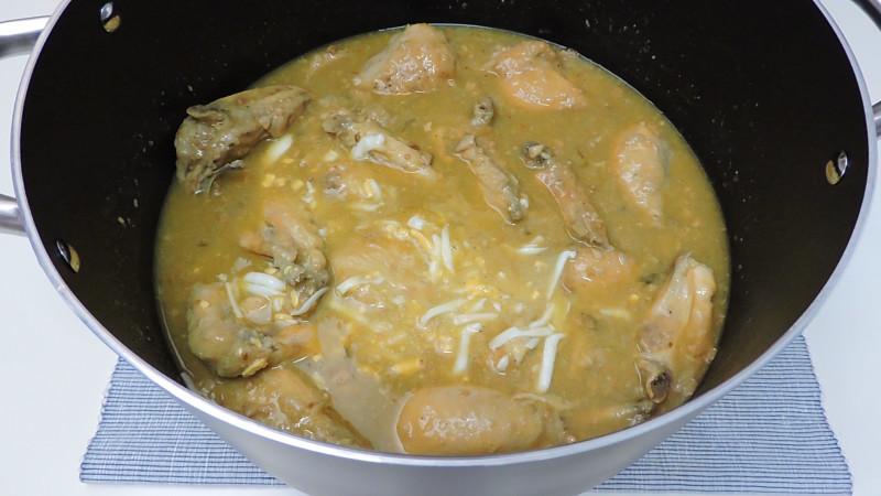 Pollo en pepitoria terminado