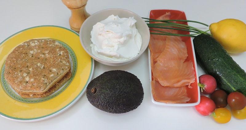 Ingredientes para el pastel de sándwich