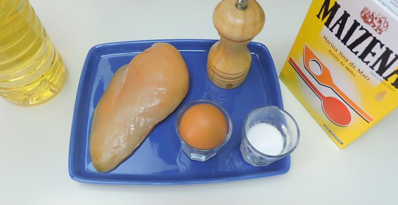 Ingredientes para el pollo al limón estilo chino
