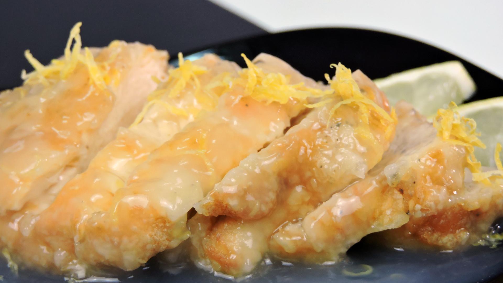 Pollo al limón (estilo chino)