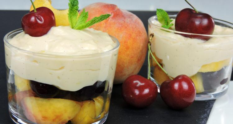 Frutas con crema (postre fácil y delicioso)