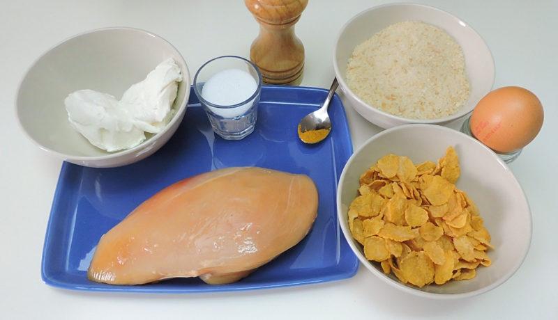 Ingredientes para los nuggets de pollo
