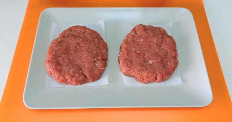 Hamburguesas de carne ya formadas