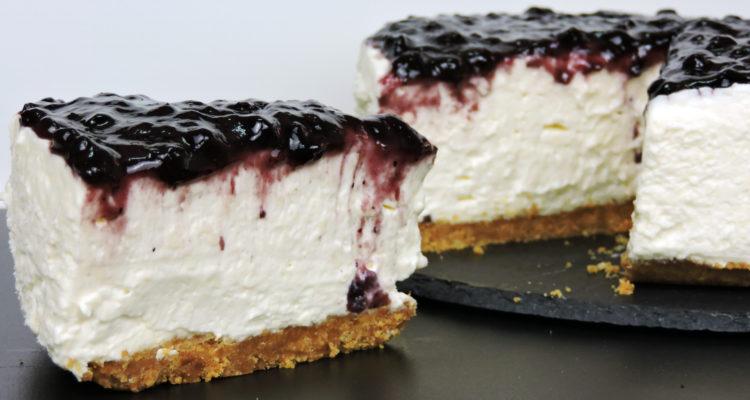 Tarta de queso con chocolate blanco (cheesecake fácil y sin horno)