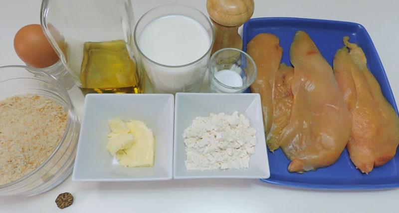 Ingredientes para las pechugas Villaroy