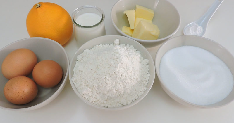 Ingredientes para hacer bizcocho esponjoso
