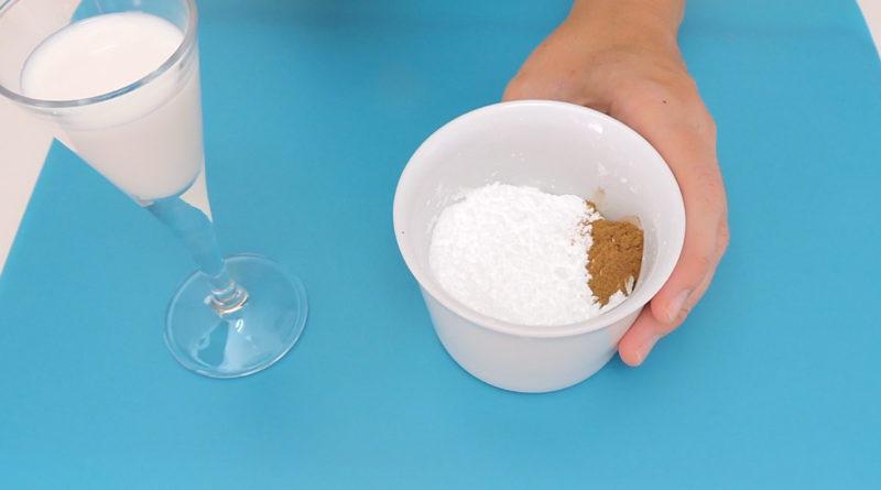 Ingredientes para glasear los rollos de canela