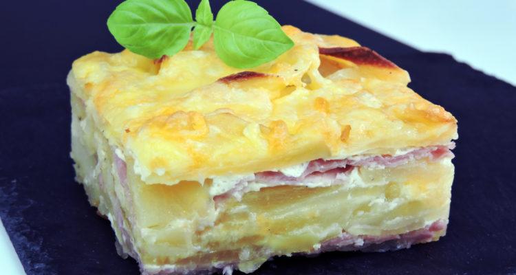 Pastel de patata con jamón y queso (pastel de papas)