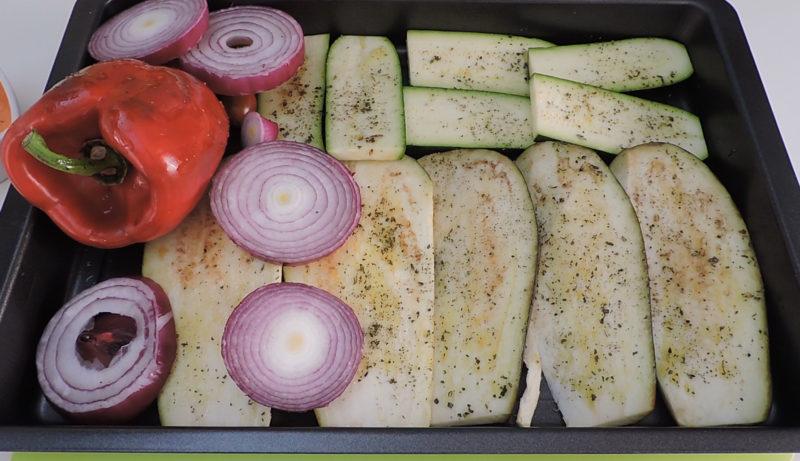 Verduras listas para asar