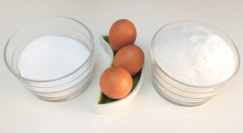 Ingredientes para los coquitos caseros