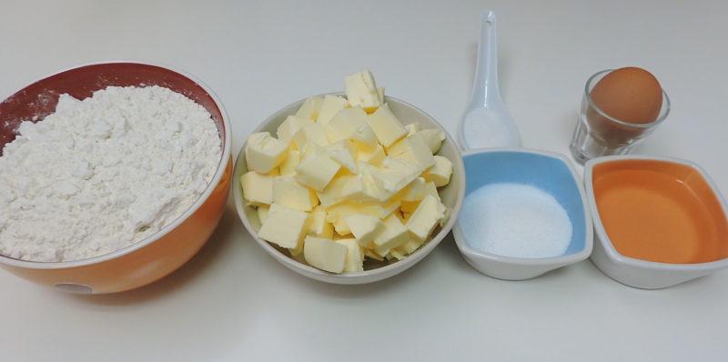Ingredientes para la masa quebrada