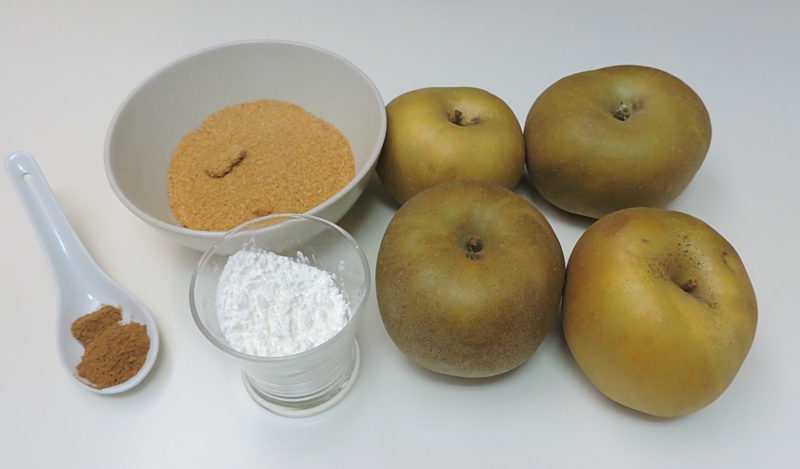 Ingredientes para el relleno de manzana
