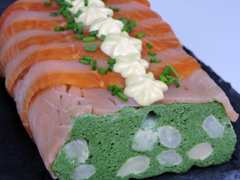 Pastel de espinacas y salmón