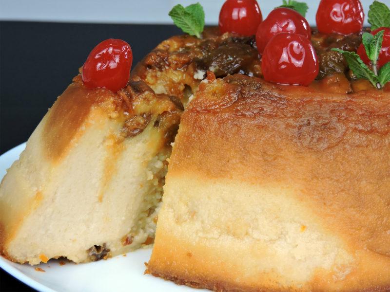 Pudin de pan con leche condensada