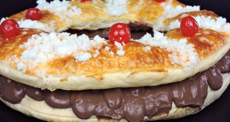 Roscón de hojaldre con chocolate