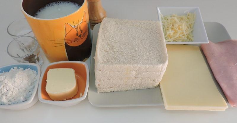 Ingredientes para el pastel de jamón y queso