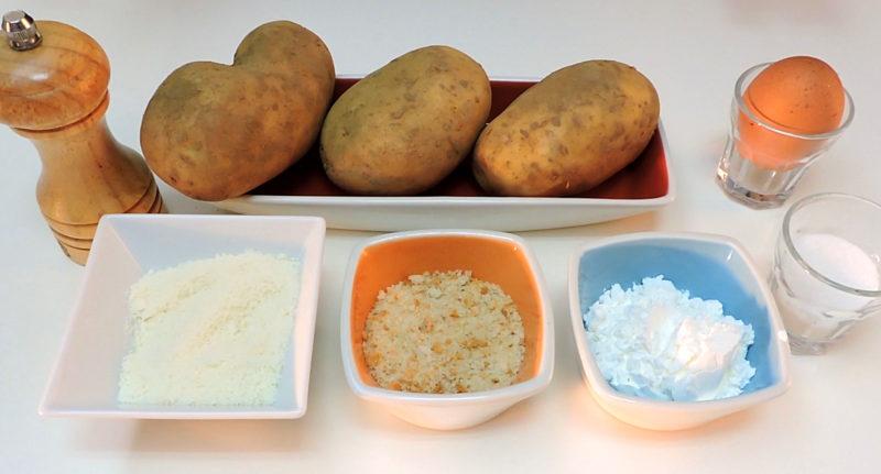 Ingredientes para las patatas fritas smile